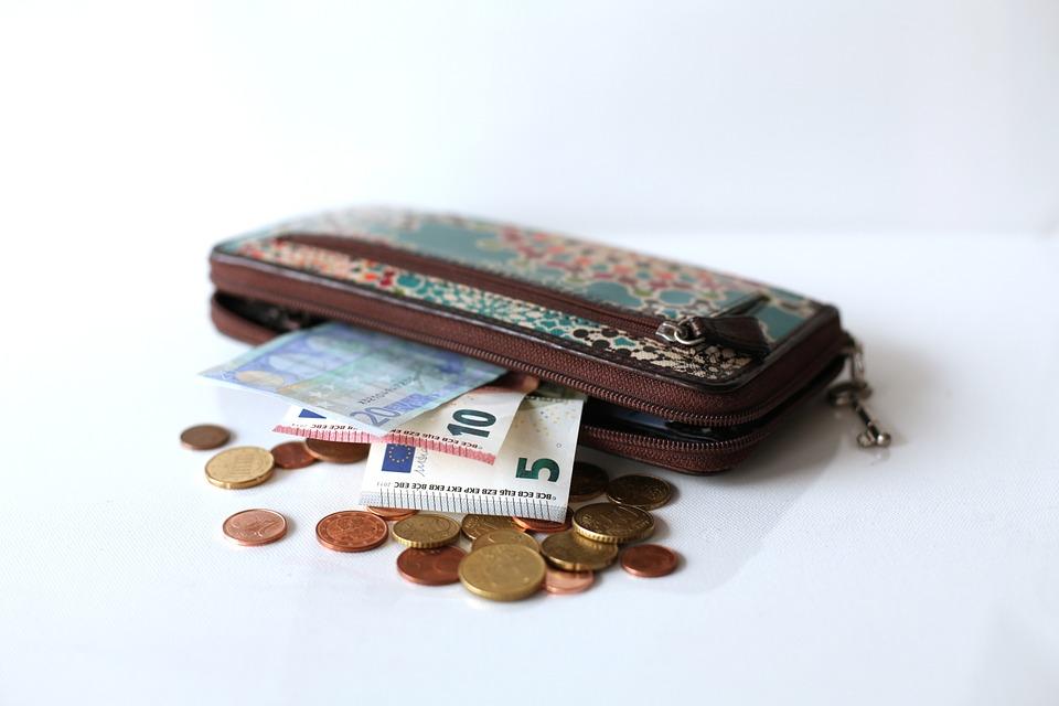 eura s peněženkou
